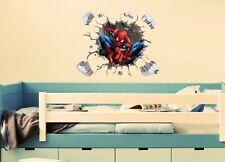 3D Spiderman Pared Arte Pegatina - 50 X 71cms-excelente para cualquier habitación