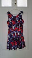 Forever 21 Women's Dress SZ/L Floral Empire Pleated Lined Dress Gently Worn!