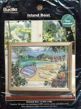 NEW BUCILLA COUNTED CROSS STITCH KIT ISLAND BOAT 13.25X10