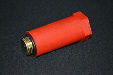 """100 Stück Tapón 1/2"""", Rosca de latón, Tapón a presión, Instalación, rojo"""