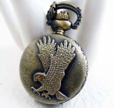 Montre de poche à gousset bronze Chaîne vintage Aigle O27mm pendentif NEUF