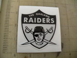 Vintage NFL Raiders 1963 football logo sticker decal