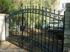# WINDSOR HEAVY IRON ESTATE GATES 7ft TALL x 13ft W ORNAMENTAL DRIVEWAY ELECTRIC