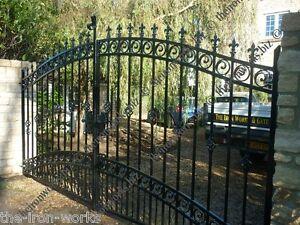 # WINDSOR HEAVY IRON ESTATE GATES 7ft TALL x 13ft W ORNAMENTAL DRIVEWAY ELECTRIC