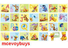 DISNEY WINNIE THE POOH GIANT ALPHABET WALL STICKERS (BNIB)