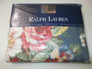 NEW Rare Ralph Lauren Kimberly Floral Queen Flat Sheet French Country Cottage