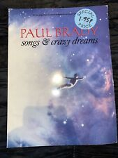 Paul Brady - Songs & Crazy Dreams - Rare Music Book - Piano Voice Guitar