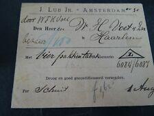 Nederland brief Lub A'dam verzending tabak per schuit naar Haarlem