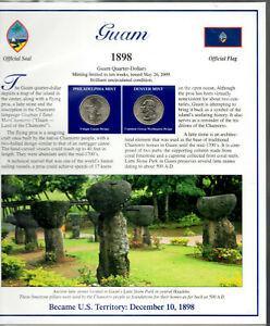 Guam Quarters P&D 2009 (Postal Panel Collection) PCS