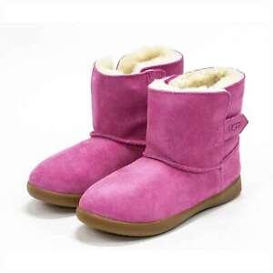 UGG Keelan Toddler Suede Sheepskin Lined Winter Boots Boys Girls Shoes