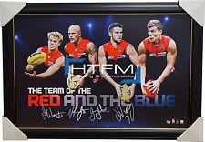 Melbourne Demons 4 Player Facsimile AFL Official Licensed Print Framed Jones