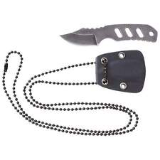 Skeleton Knife - Self Defense Neck Chain Knife - Stone Finished Blade and Handle