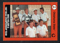 Michael Bradley signed autograph 1991 Oklahoma State Collegiate Collection Card