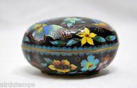 Caja China Antigua Esmalte Cloisonné Mariposas mi-Xxème Dim7,5x5,5cm