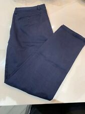 Mens Genuine GANT Regular Chino Pants Trouser W34 L 32 Navy Blue
