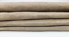 BEIGE GRAINY WASHED ANTIQUED thick vegetable tan Lambskin 2 skins 10sqf #A4207