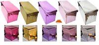 New Mirrored MetalicFolding Storage Ottoman Seat Toy Storage Box Pouffe Stool