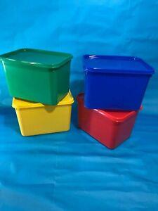 Plastic Food Storage Containers 40 x 4ltr Multi-Colour
