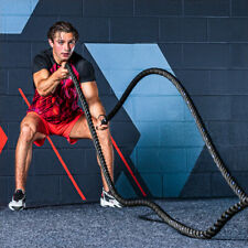 Training Battle Rope [30ft] | 1.5in Gym Fitness Rope – CrossFit Power Strength