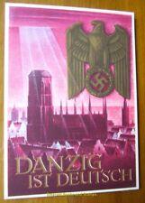 "EBS Germany 1939 Postal Card Kriegs Winterhilfswerk ""Danzig ist Deutsch!"" P287"