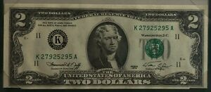 1976 ~ UNITED STATES ~ 2 DOLLARS ~ BANKNOTES OF ALL NATIONS ~ UNCIRCULATED