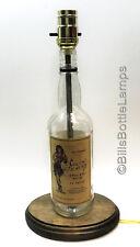 SAILOR JERRY RUM Liquor Bottle TABLE LAMP Light with Wood Base Bar Lounge Decor