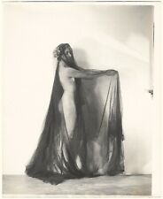 Fine Art Deco Camera Club Photograph 1930s Draped Nude Modern Dancer H.R. Cremer