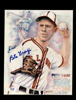 Pete Gray PSA DNA Coa Hand Signed 8x10 Photo Autograph