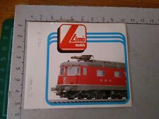 ADESIVO STICKER VINTAGE KLEBER modellino treno trenino lima models sbb