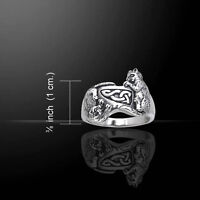 Celtic Cat .925 Sterling Silver Ring by Peter Stone