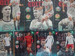 2021 Panini Adrenalyn XL UEFA Euro 2020 & Kick Of Limited Edition/Premium cards.