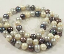 7-8mm Multi Color Potato Freshwater Pearl Beads, Mixed Color Potato Pearls(#549)