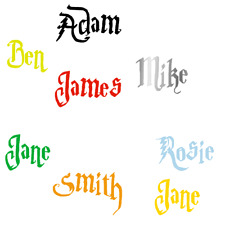 Personalised Custom Name Sticker Vinyl Decal Harry Potter Font stickers design