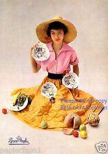 Porzellan Rosenthal Reklame von 1952 Sammelteller Werbung 50er Jahre Sonnenhut +