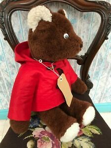 Antique Paddington Bear 19 inch Brown Plush