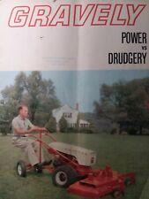 Gravely 1964 Swiftamatic Walk-Behind Garden Tractor Color Sales Brochure Manual