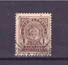FRANCOBOLLI Luogotenenza Recapito Autorizzato -- 1946 1 Lira SAS7