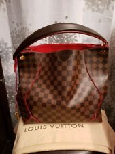 Auth LOUIS VUITTON Caissa Hobo N41555 Cerise Red Damier Shoulder Tote Bag