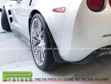 For 05-13 Chevy Corvette C6 Z06 ZR1 Carbon Rear Vacuum Splash Guards Mud Flap CF