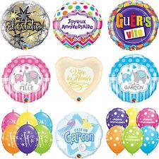 French Language Latex & Foil Qualatex Balloons (Anniversaire, Bébé, Mariés)