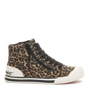 Rocket Dog Jazzin Women's Cheetah Animal Print High-Top Lace-Up Sneaker Trainer