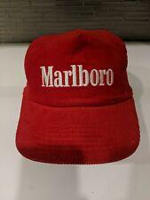 MARLBORO  SnapBack vintage  Trucker Hat Cap Corduroy