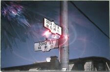 """Canvas art on wood """"Queen+Soho"""" 12""""x9""""  Street intersection in English/Chinese"""