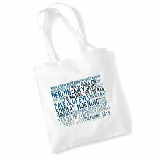 Art Studio Tote Bag THE VELVET UNDERGROUND Lyrics Print Album Music Poster Gift
