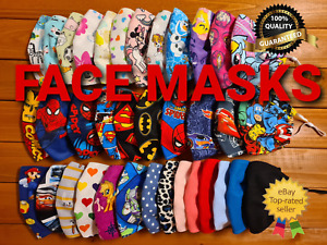 UK Face Mask Adult & Kids Cotton Reusable FAST FREE DELIVERY