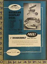 1956 Fleet Line Thunderbot Replica Boat Ship Cruiser Speed Music 2pg Toy Ad Ts30