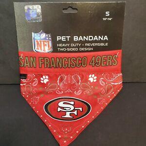 NWT San Francisco 49ers NFL Pet Reversible Paisley Bandana - Small