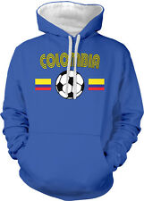 Colombia National Soccer Team The Coffee growers Futbol 2-tone Hoodie Pullover