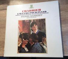 Coffret 3 LP CHABRIER L'oeuvre pour piano Pierre BARBIZET Jean Hubeau EXC