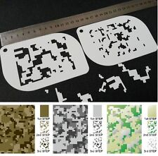 #XS DIGITAL CAMOUFLAGE Camo Pattern Airbrush Stencil Body Face Paint Army Mylar